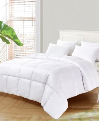 Ultra-Soft Nano-Touch Light Warmth White Down Fiber Comforter, Full/Queen