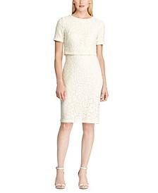 Petite Lace Popover Dress