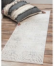 Glam Mmg003 White/Silver 2' x 10' Area Rug