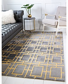 Glam Mmg002 Gray/Gold 9' x 12' Area Rug