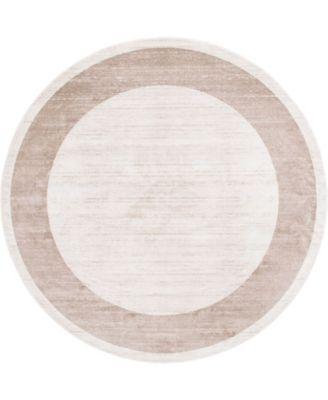Yorkville Uptown Jzu007 Beige 8' x 8' Round Rug
