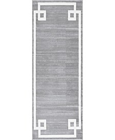 "Lenox Hill Uptown Jzu005 Gray 2'2"" x 6' Runner Rug"
