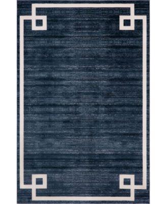 Lenox Hill Uptown Jzu005 Navy Blue 4' x 6' Area Rug