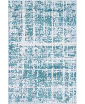 Lexington Avenue Uptown Jzu003 Turquoise 5' x 8' Area Rug