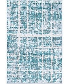 Lexington Avenue Uptown Jzu003 Turquoise 4' x 6' Area Rug