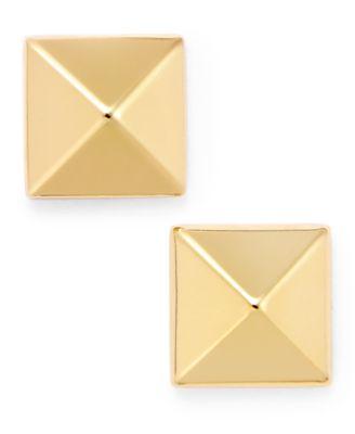 14Kt Gold Pyramid Stud Earring Stud Earrins
