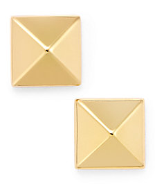 Pyramid Stud Earrings in 14k Gold, White or Rose Gold