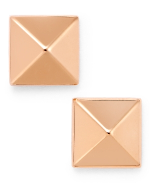 Pyramid Stud Earrings in 14k Gold