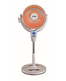 "H-4500 14"" Oscillating Pedestal Digital Dish Heater with Remote"