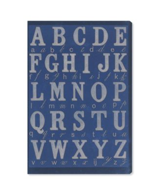 La Cursive Bleu Canvas Art, 10