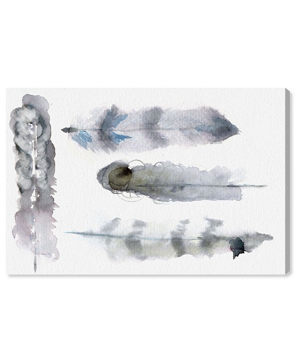 """Oliver Gal Plumes Canvas Art, 36"""" x 24"""""""