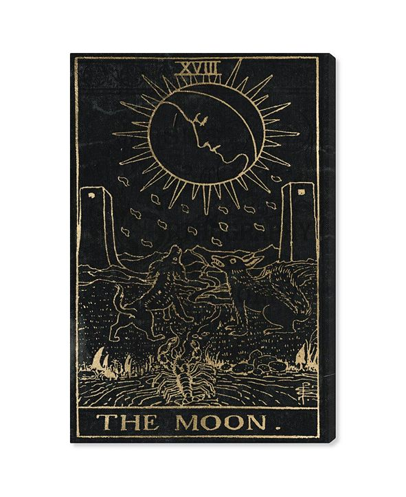 "Oliver Gal The Moon Tarot Canvas Art, 24"" x 36"""