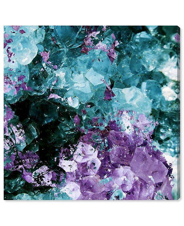 "Oliver Gal Amethyst Love Canvas Art, 16"" x 16"""