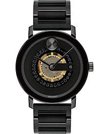 Movado Men's Swiss Bold Evolution Black Ion-Plated Stainless Steel Bracelet Watch 40mm