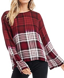 Long Sleeve Plaid Top