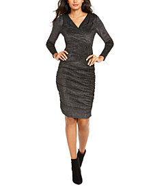 Thalia Sodi Ruched Surplice Dress, Created For Macy's