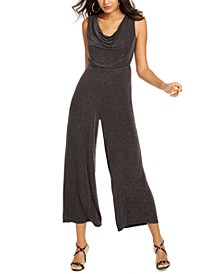 Metallic Cowlneck Jumpsuit, Created For Macy's