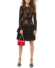 Lace Drop-Waist Dress
