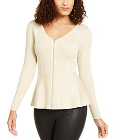 Zip Peplum Sweater, Created For Macy's