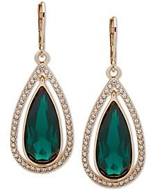 Gold-Tone Pavé & Stone Orbital Drop Earrings