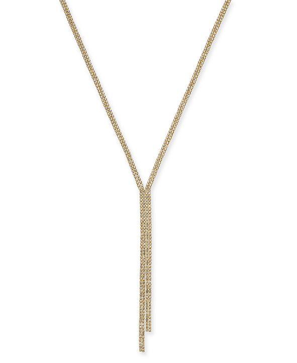 Thalia Sodi Gold-Tone Rhinestone Lariat Necklace, Created for Macy's
