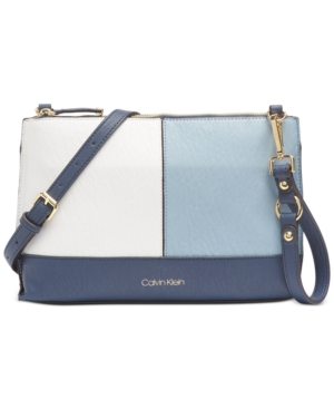 Calvin Klein Sonoma Crossbody In Blue Combo/Silver