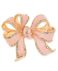 Gold-Tone Crystal Bow Pin, Created For Macy's