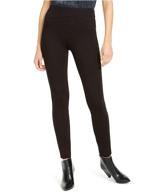 INC International Concepts INC Wavy-Waistband Skinny Pants, Created For Macy's
