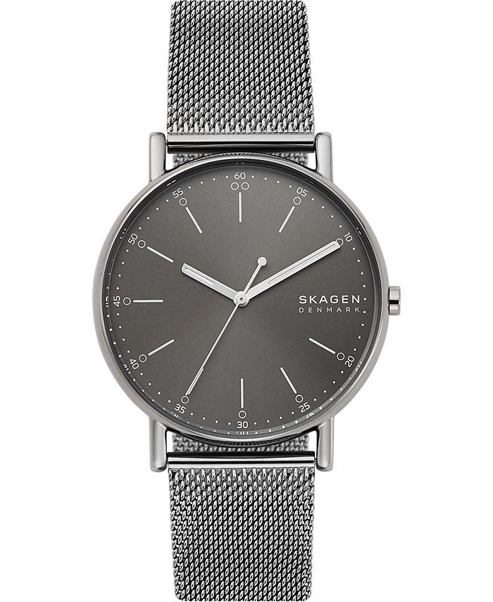 Skagen - Men's Signatur Gunmetal Stainless Steel Mesh Bracelet Watch 40mm