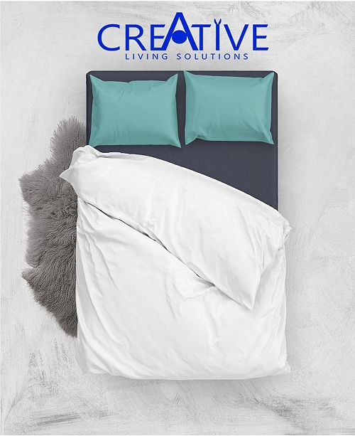 Creative Living Solution White Goose Feather and Down Cotton Case Pillow, Queen Size
