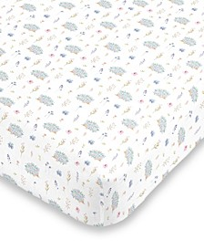 Flower and Hedgehog Crib Sheet Collection