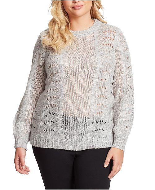 Jessica Simpson Plus Size Hazel Pointelle Sweater