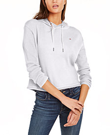 Tommy Jeans Waffle-Knit Hoodie