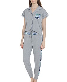 Women's Mixed Plaid Pajama Set