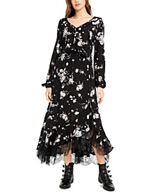 Juniors' Ruffled Lace-Trim Maxi Dress, Created For Macy's