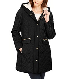Hooded Fleece-Lined Quilted Jacket