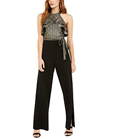 Halter Ruffle Top Jumpsuit