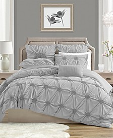 Charming Ruched Rosette Duvet Cover Sets