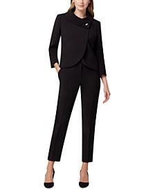 Wrap-Jacket Pants Suit