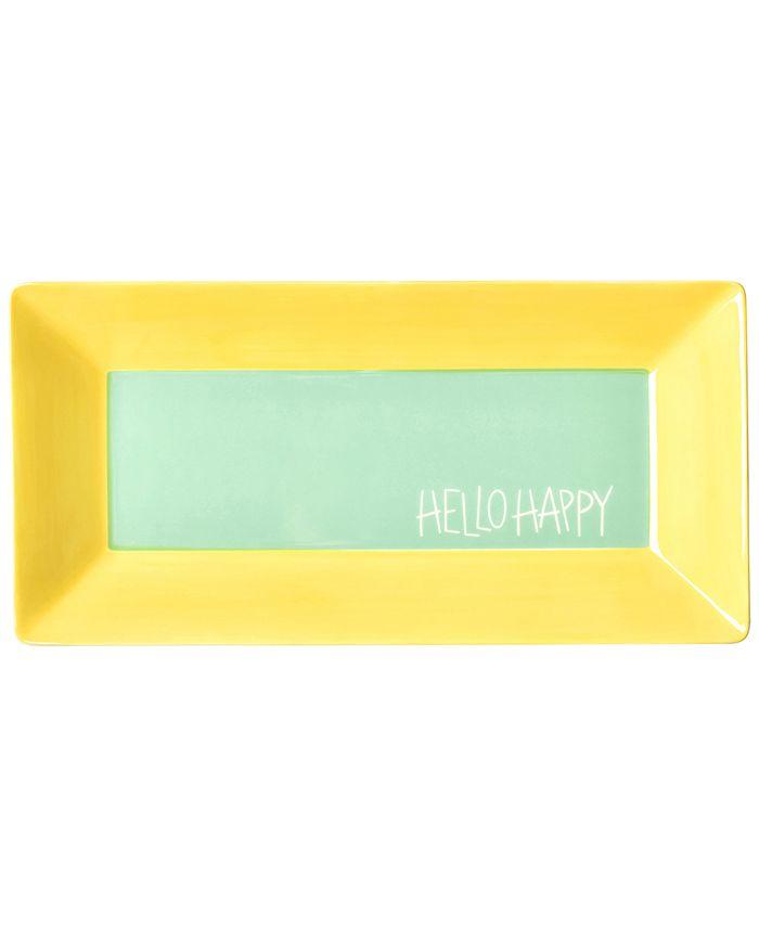 """Coton Colors - Mint Color Block 11"""" Hello Happy Scoop Tray"""