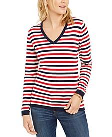 Cotton Striped Sweater