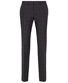 BOSS Men's Wenten Extra-Slim-Fit Checked Trousers