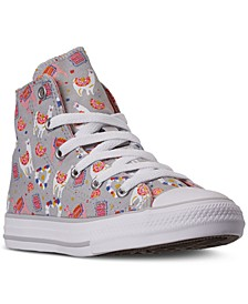 Little Girls Chuck Taylor All Star Llama Party High Top Casual Sneakers from Finish Line