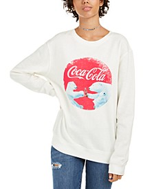 Juniors' Coca Cola Bear Graphic Sweatshirt