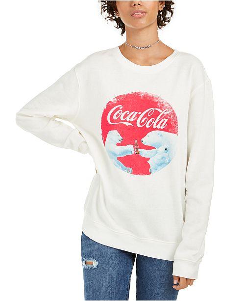 Love Tribe Juniors' Coca Cola Bear Graphic Sweatshirt