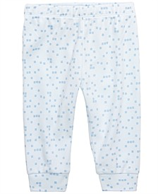 Baby Boy Square-Print Cotton Jogger Pants, Created for Macy's