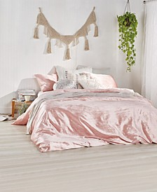 Home Crinkle Velvet King Comforter Set