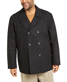 Men's Big & Tall Double Breasted Peacoat
