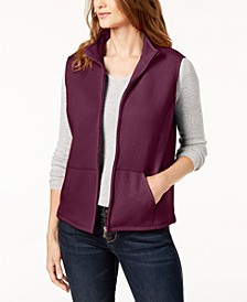 Petite Quilted Zip-Front Vest, Created for Macy's