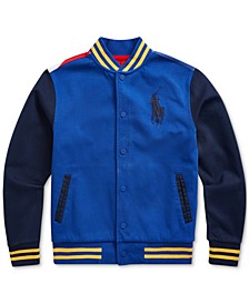 Big Boys Downhill Skier Baseball Jacket